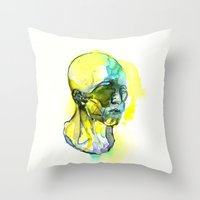 dna Throw Pillows featuring DNA by Chen Li