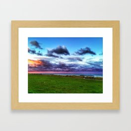 Last colours of the day Framed Art Print