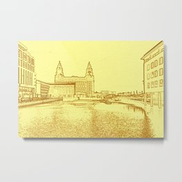 Liver Building from Princes Dock (Digital Art) Metal Print