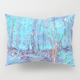 Van Gogh Trees & Underwood Aqua Lavender Pillow Sham