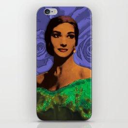 Maria Callas Stenciled Indigo iPhone Skin