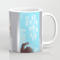 tony stark Mugs featuring Tony Stark by MaliceZ