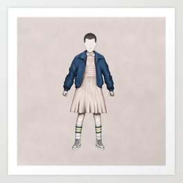 Eleven without a face (Stranger T.) Art Print
