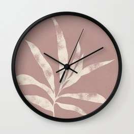 Olive Branch 01 - Ivory & Pink Suede Wall Clock