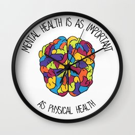 Mental Health Wall Clock