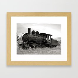 Vintage Steam Engine Framed Art Print