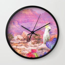 Flowers in the desert Wall Clock