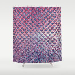Red White & Blue Explosion Shower Curtain