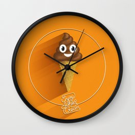 ScheißCream™  // icecream Wall Clock