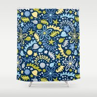 pool Shower Curtains featuring Tidal Pool by Heather Dutton