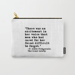 Excitement in her voice ― Fitzgerald quote Carry-All Pouch