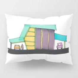 Retro Auto Shop Illustration 101 Pillow Sham