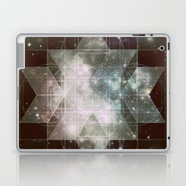 Galaxy Sacred Geometry: Dark Rhombic Hexecontahedron Laptop & iPad Skin