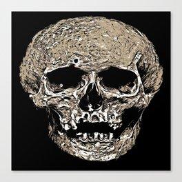 Full Skull With Rotting Flesh Vector Canvas Print