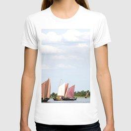 Summer sailing on Dutch Frisian lake T-shirt