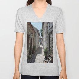 The Cobbled Back Streets Surrounding Old Marmaris Unisex V-Neck
