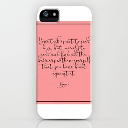 Love by Rumi iPhone Case