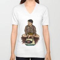 moonrise kingdom V-neck T-shirts featuring Moonrise Kingdom by Laura O'Connor