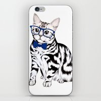 kitty iPhone & iPod Skins featuring Kitty by 13 Styx