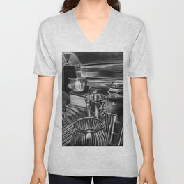 BlackandWhite One Unisex V-Neck