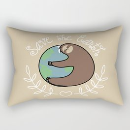 Save The Earth Sloth Rectangular Pillow