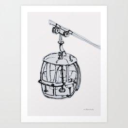 Cable Car HK Art Print
