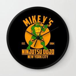 Mikey's dojo Wall Clock