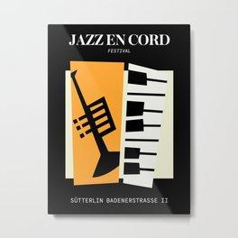 Jazz   Bauhaus II Metal Print