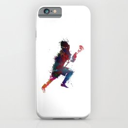 Lacrosse player art 1 iPhone Case