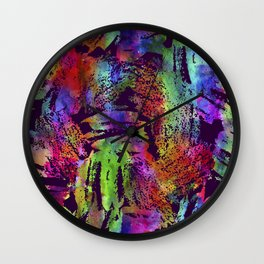 Rainbow cool brush Wall Clock