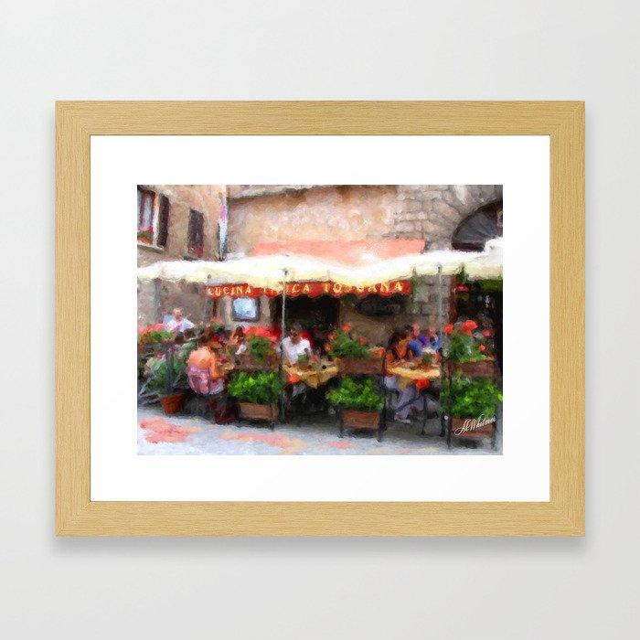 European Cafe Montepulciano Framed Art Print