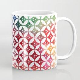 Ancient Egytpian pattern rainbow Coffee Mug