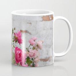 pink roses and old wall Coffee Mug