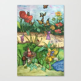 Day in the garden Canvas Print