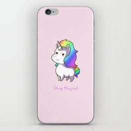 Super Cute Rainbow Unicorn Kawaii iPhone Skin
