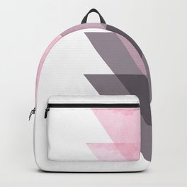 Pink and Grey Geometric Art Backpack
