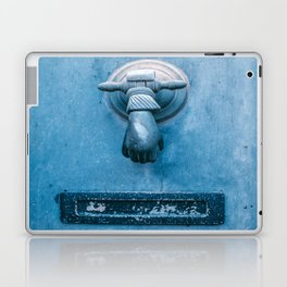 Blue Doorknocker Laptop & iPad Skin