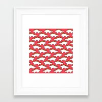 red dead redemption Framed Art Prints featuring Red Steg Redemption by Kittymacdraws