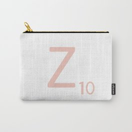 Pink Scrabble Letter Z - Scrabble Tile Art and Accessories Carry-All Pouch