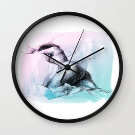 Nude female 3 Wall Clock