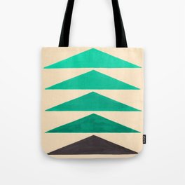 Colorful Turquoise Green Geometric Pattern with Black Accent Tote Bag