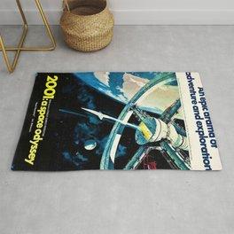 2001 A Space Odyssey 1968 American Lobby Broadside Vintage Film Poster Rug