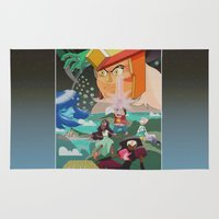 steven universe Area & Throw Rugs featuring Steven Universe The Gem Wars by luvusagi