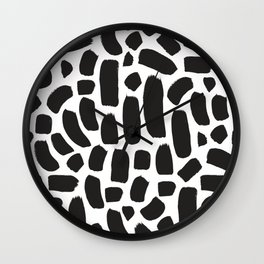 Brush strokes pattern #9 Wall Clock