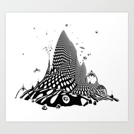 Space City Of The Future Art Print