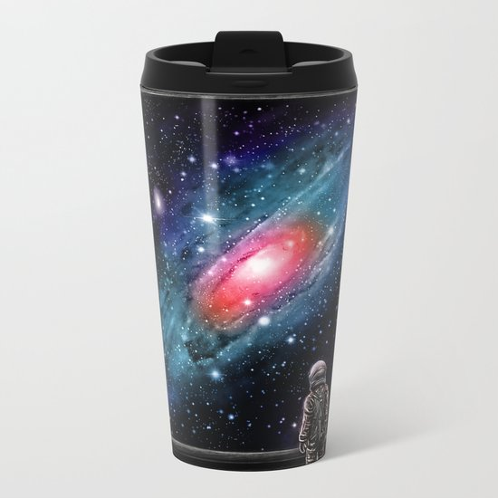 Looking Through a Masterpiece Metal Travel Mug