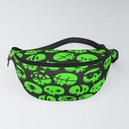 Just green skulls Fanny Pack
