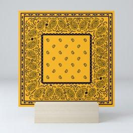 Gold and Black Bandana Mini Art Print