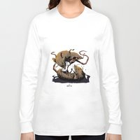 rat Long Sleeve T-shirts featuring rat fight by antoniopiedade
