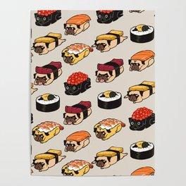 Sushi Pug Poster